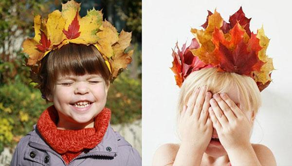 короны из осенних листьев