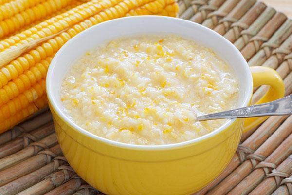 вкусная кукурузная каша на молоке