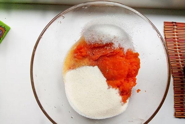 смешать морковь с сахаром