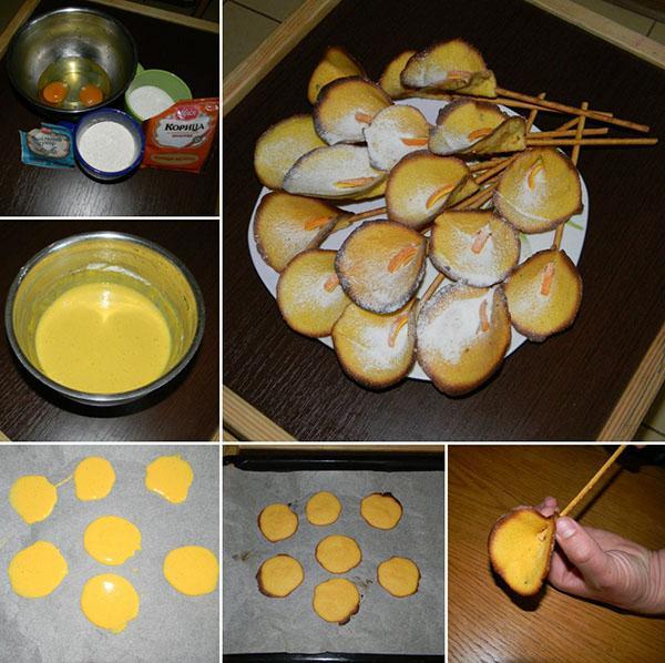 этапы приготовления печенья