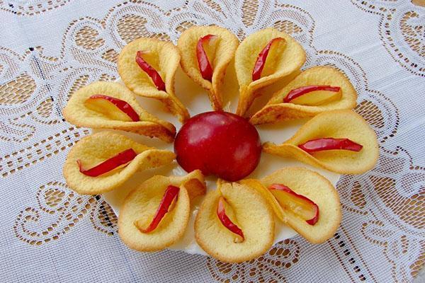 каллы с яблоками