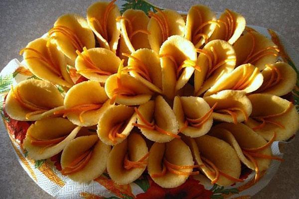 печенье каллы с апельсиновой цедрой