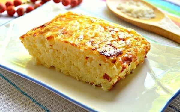 рисовая запеканка по быстрому рецепту