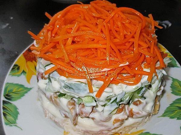 салат оранжевый закат