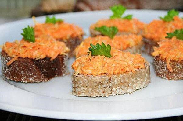 закуска с добавлением морковки