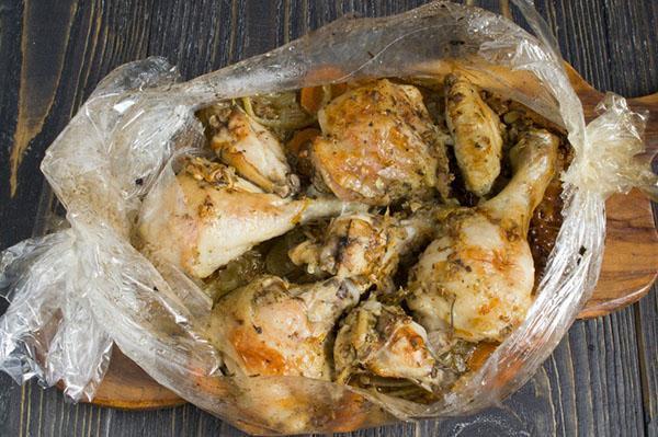 приготовление курицы в рукаве