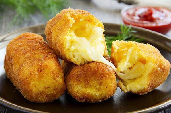 картофельные зразы с моцареллой