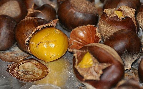 кожуру каштанов используют в кулинарии