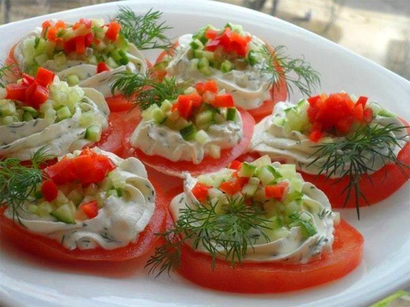 овощные рецепты закусок на праздничный стол
