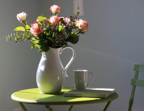 ваза с розами