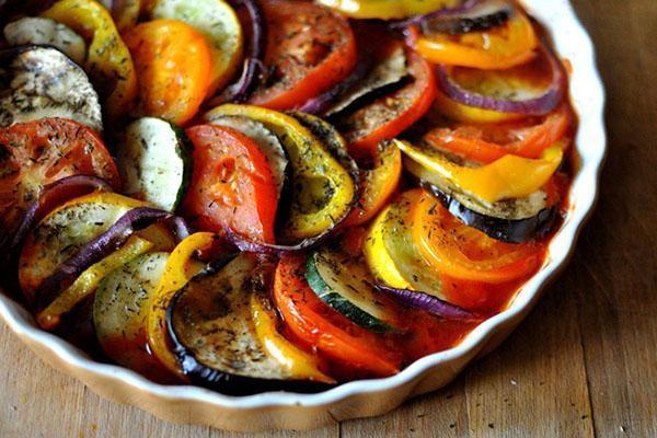 запеченные в духовке овощи