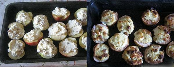 нафаршировать яблоки и запечь