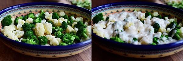 выложить капусту и залить соусом