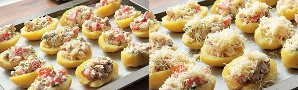 нафаршировать картофель и запечь