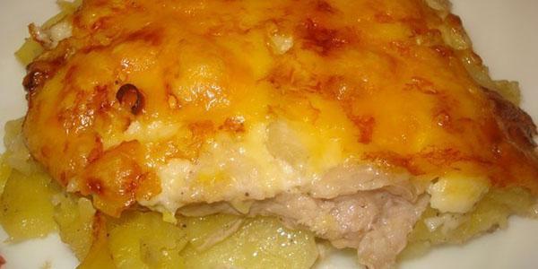 картофель по-французски под майонезом