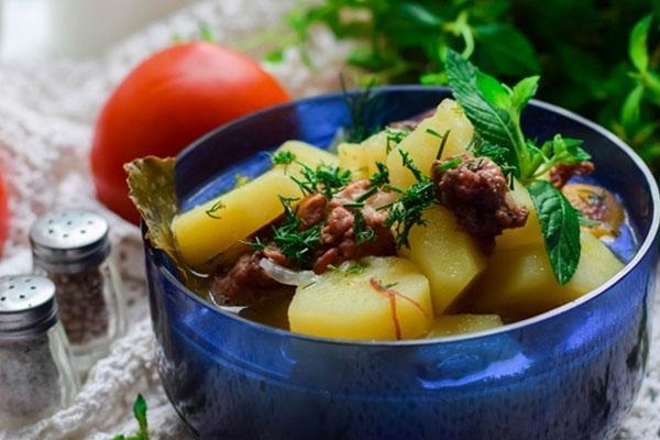 картошка с тушенкой быстрого приготовления