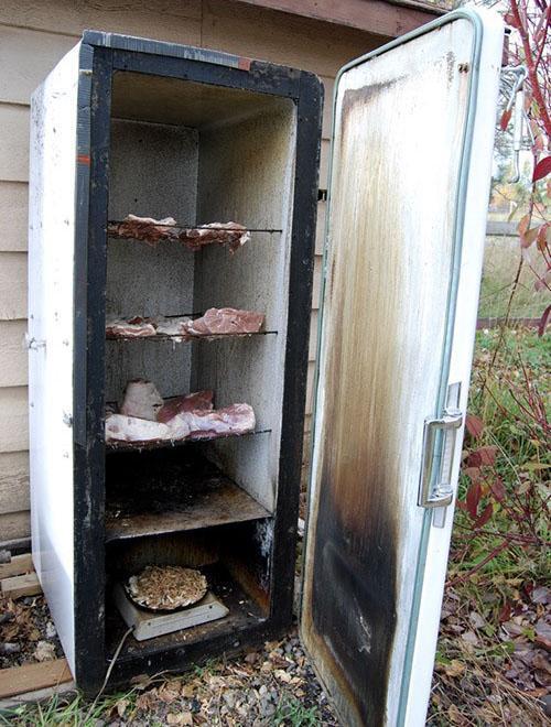 коптильня из холодильника
