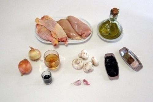 ингредиенты для приготовления куриного рулета