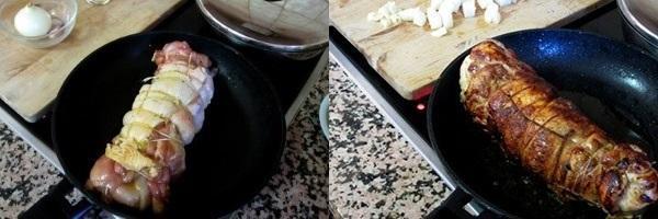 обжарить рулеты на сковороде