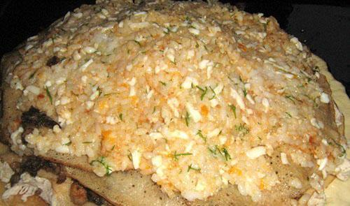 выложить рисовую начинку