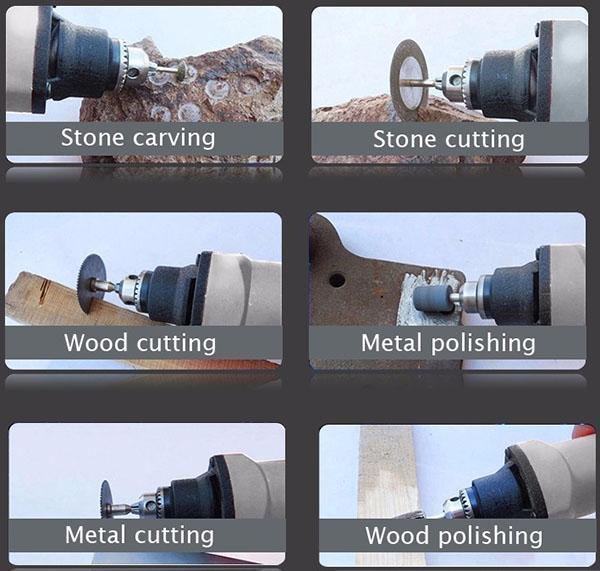 область использования мини-дрели