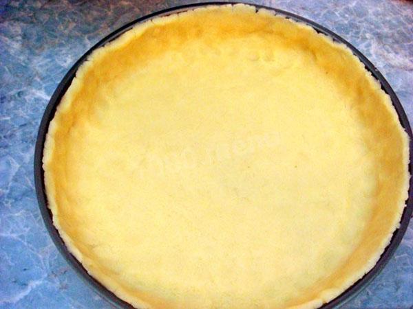 запечь основу для пирога