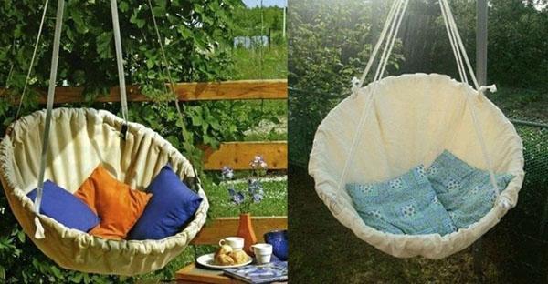 подвесной гамак-кресло