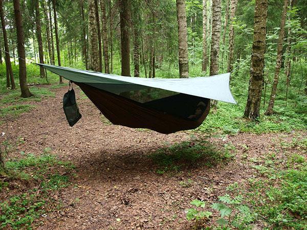 подвесной гамак-палатка