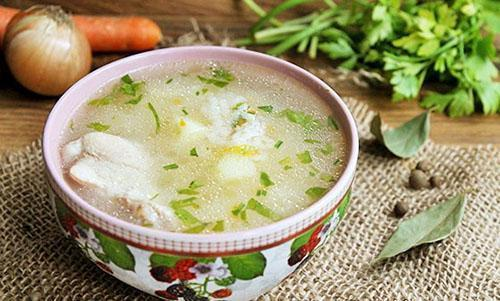 подать суп к столу
