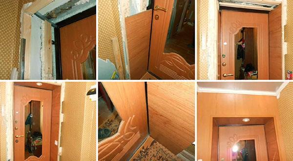 этапы отделки дверного откоса