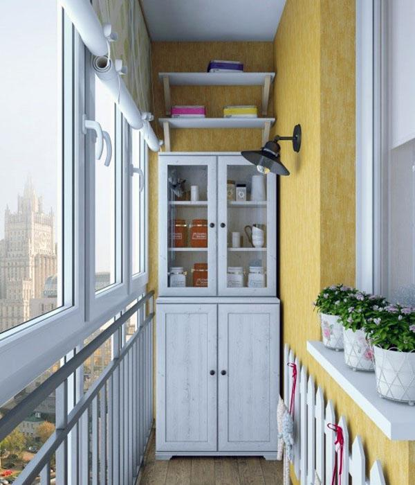 шкаф в виде кухонного буфета