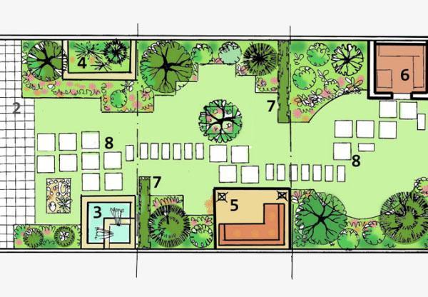 план-схема садового участка