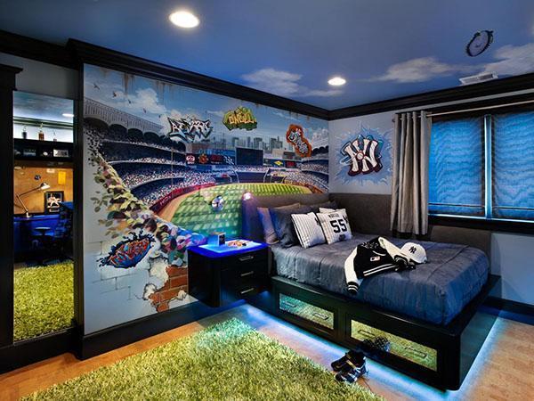 комната футболиста