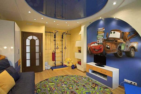 комната со спортивным уголком