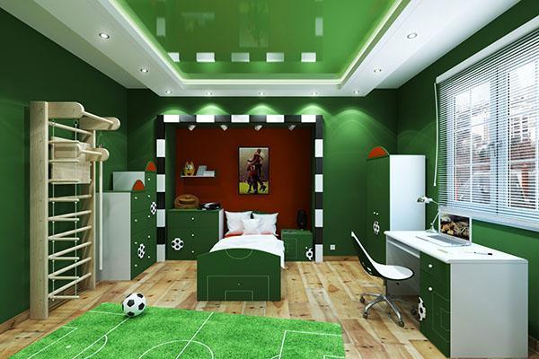 комната мальчика футболиста
