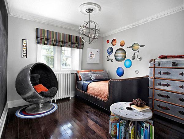 детская комната будущего космонавта