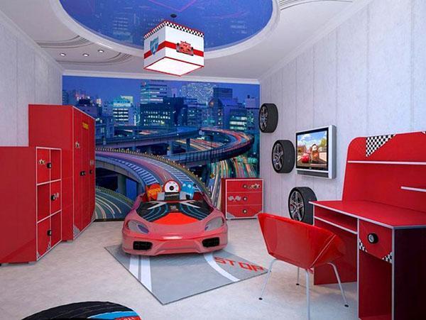 комната будущего гонщика