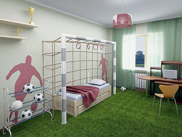 комната будущего футболиста