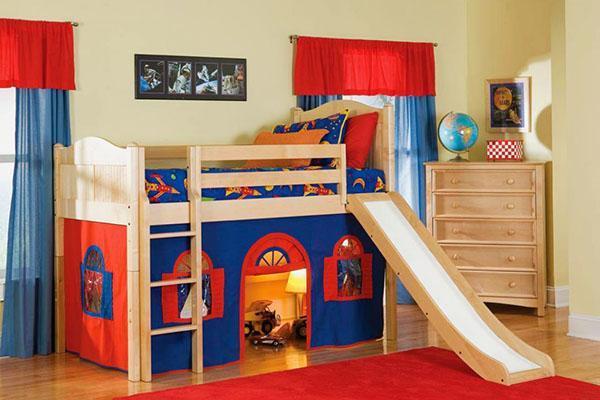 кровать чердак с игровой зоной