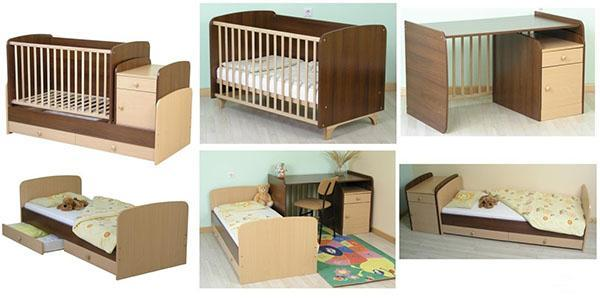 выбор конструкции кроватки детской