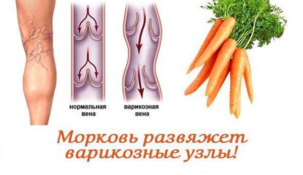 морковь для лечения вен