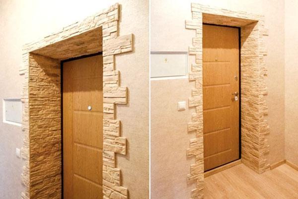 декоративная отделка откосов на двери