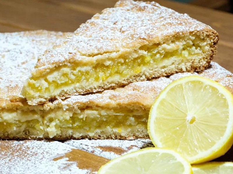 простой рецепт лимонного пирога