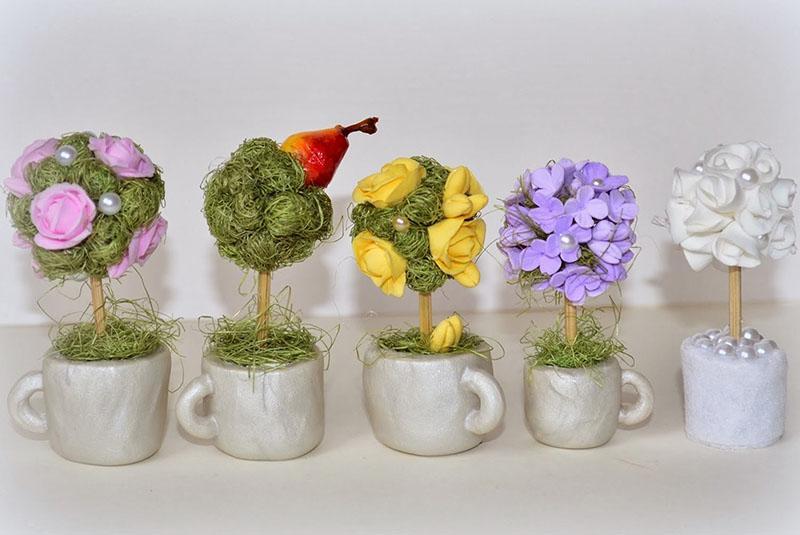 Топиарии из кофе: дерево своими руками, фото джентльмена, мастер ... | 535x800