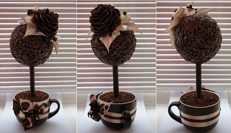 кофейный топиарий своими руками