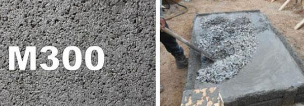 марка бетона М300