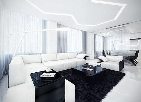 мебель в большом помещении
