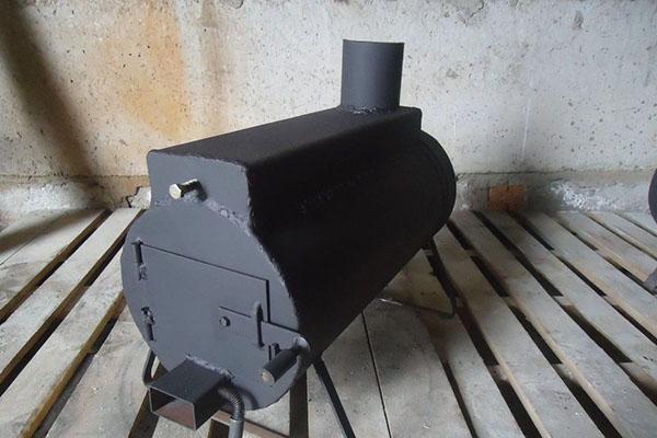 печь для гаража на дровах