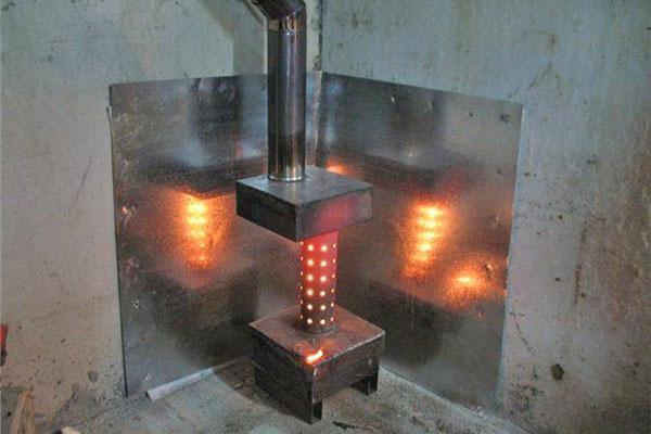 отопительная печь на жидком топливе