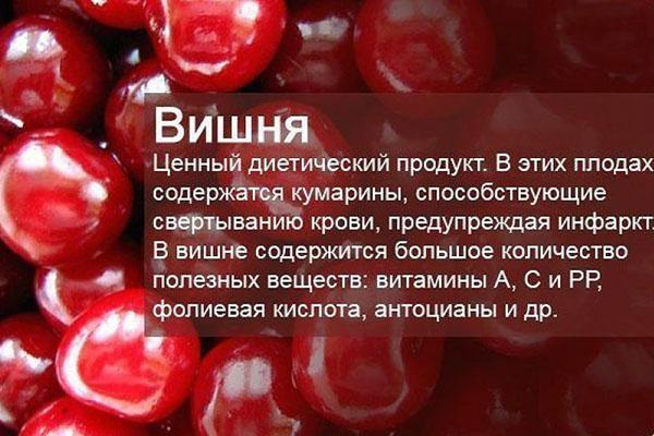 состав плодов вишни